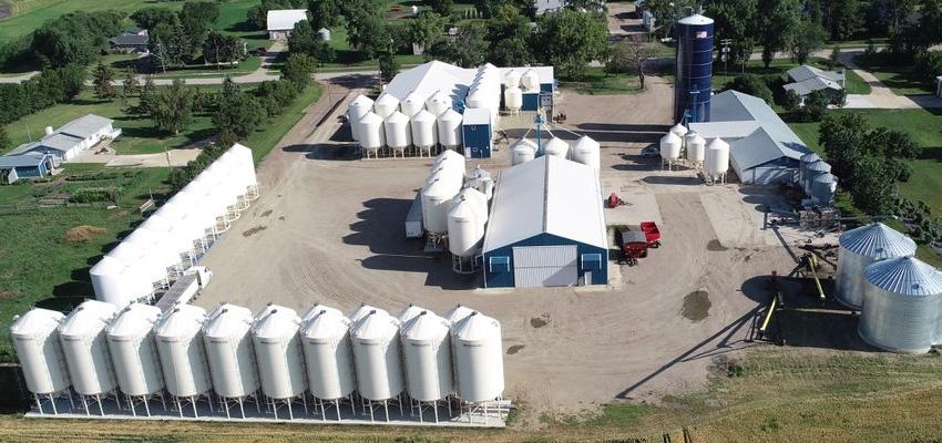 Ens Farms aerial view